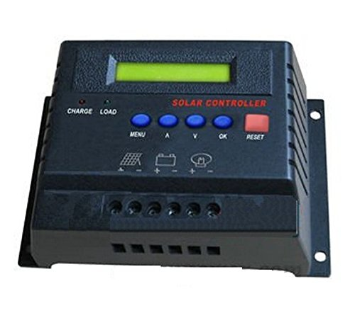 Gowe PWM 60A Solar Charge Controller, 12V/24V Automatische Selektiver mit LCD Display CE RoHS zertifiziert