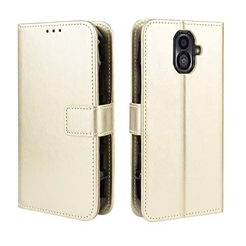 FAMOBIE Hülle kompatibel mit Kyocera Torque G04, Premium Ledertasche Hülle mit [ Karte Halter ] [ Standfunktion ] [ Bargeld Platz Tasche ] Handytasche klapphülle kompatibel mit Kyocera