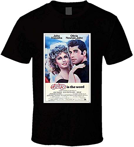 Whgdeftysd Grease Heren jaren 70 Movie Poster Vintage Fan T-Shirt