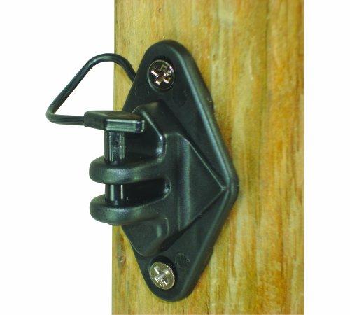 Field Guardian Wood Post Pinlock Nail-on Prairie Isolant, Noir