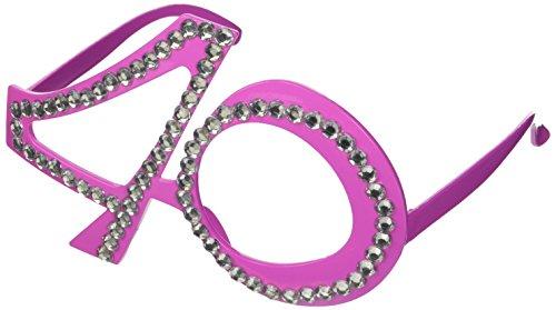 Folat B.V. Gafas 40mo cumpleaños, aniversario, materia de diversión, Gagbrille