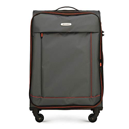 WITTCHEN Koffer – Handgepäck   Textil, Material: Polyester   hochwertiger und Stabiler   Dunkelgrau   33 L   54x36x20 cm