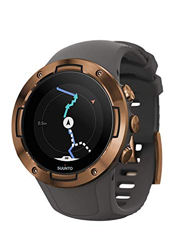 Suunto 5 Reloj Deportivo GPS Ligero y Compacto, Seguimiento 24/7 de Actividad física, Medición del Ritmo cardiaco en la muñeca, Unisex-Adulto, Gris/Cobre, Talla Única