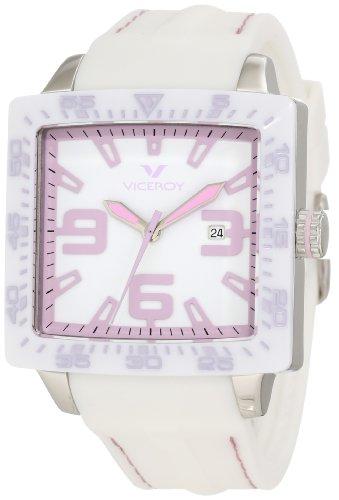 Viceroy 432099-75 - Reloj de Pulsera Mujer, Caucho, Color Blanco