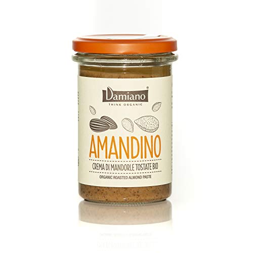 Damiano THINK ORGANIC Crema Spalmabile di Mandorle Tostate, 100% Biologiche - Senza Glutine e Vegan Friendly - 275 g