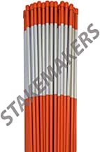 Driveway Marker, Snow Stakes, Plow Stakes, Reflective Tape, 5/16