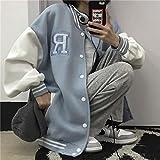 Chaqueta de béisbol Mujeres Casual Carta de impresión Chaqueta de Hombre de Gran tamaño Hip Hop Parejas Flojo Varsity Jackets Harajuku Bomber Chaquetas