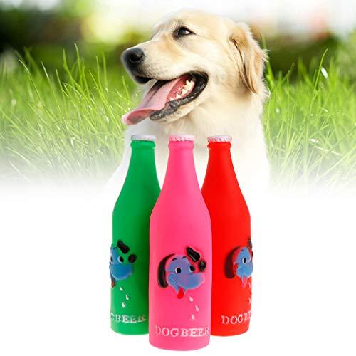 MJiang Gummi-Flasche, weich, quietschend, lustiges Spielzeug, für Katzen, Hund, Welpen, Kätzchen, Maulwurf, Fußabdruck, Dekoration, bunt, kreatives Geschenk