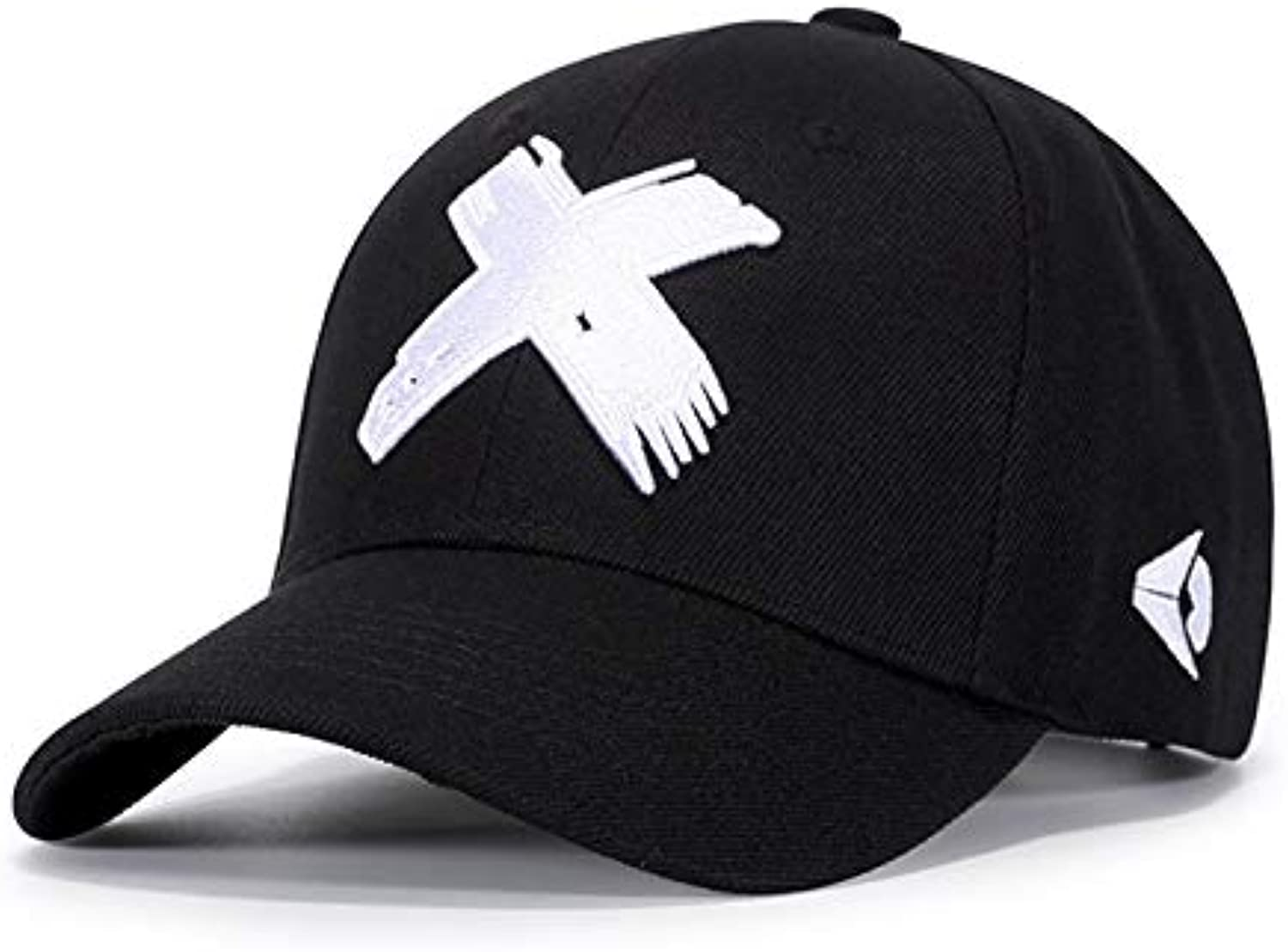 AAMOUISE Baseball Cap Baseball Cap Men dad hat Woman Casual Embroidery X caps Folded Adjustable Visor Cotton Flexfit Male Bone Black Bone hat