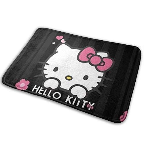 Amanda Walter Bienvenido Entrada felpudos Hello Kitty Felpudo y Alfombrillas Antideslizantes felpudos...