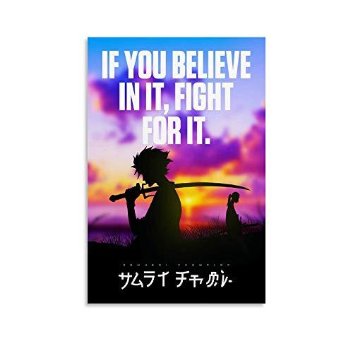 Anime Samurai Champloo Inspirational Quotes Canvas Art Poster