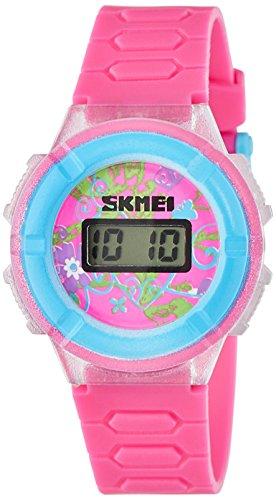 Skmei Digital Red Dial Girl's Watch - 1097RR