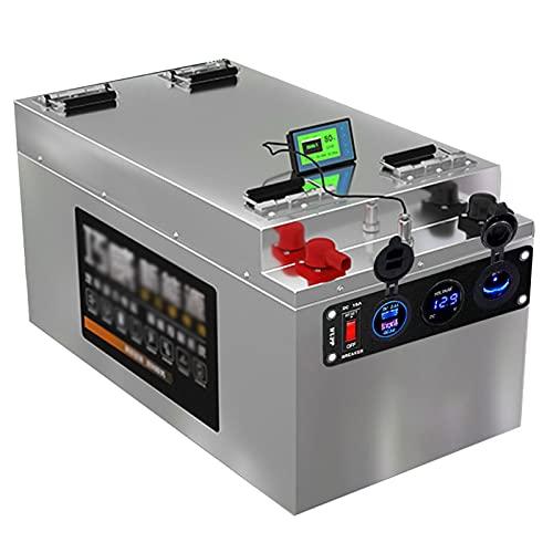 Batería LiFePO4 de 12 V 80 Ah, batería de fosfato de hierro de litio, batería de ciclo profundo, batería de RV, más de 2000 ciclos, incluye cargador para sistema solar RV Camping Trolling Motor