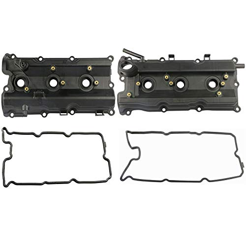MOSTPLUS Engine Valve Covers Left & Right Compatible with 03-06 Nissan 350Z 03-06 G35 V6 3.5L (Set of 2)