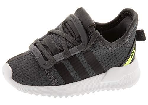 adidas Originals Baby Boys U_Path Run I Sneaker, Grey Five/core Black/hi-res Yellow, 7 Infant