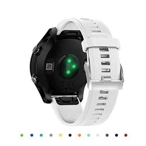 Scpink Banda de Reloj para Correa de Repuesto de Gel de sílice Garmin Quick Fit de 22 mm para Garmin Fenix 5 / Forerunner 935 / Approach S60 Smart Watch
