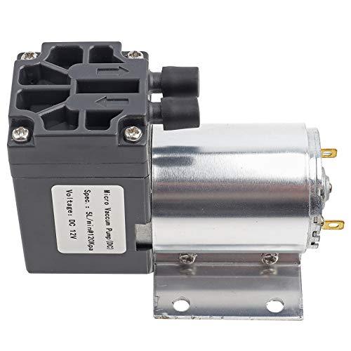 Bomba de succión de presión negativa DC 12V 5L / min 120KPa Mini bomba de succión de vacío estable de alta eficiencia silenciosa Micro-bomba para muestreo de análisis de gas