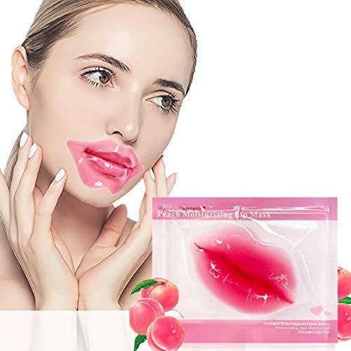 Chagoo Mascarillas labiales de colágeno, Almohadillas labiales de colágeno Ideales para hidratar los Labios, Eliminar la Piel Muerta, Rellenar los Labios, Anti agrietamiento (30 Piezas)