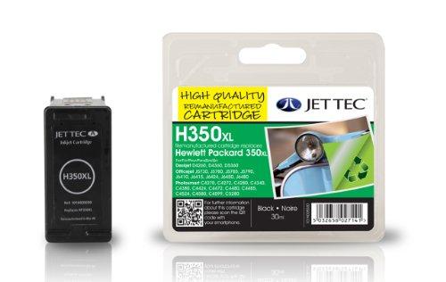 Jet Tec CB336EE HP HP350XL CB336 In England hergestellte Wiederaufbereitete Tintenpatrone, schwarz High capacity