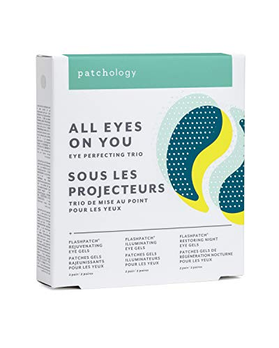 """Patchology""""All Eyes On You"""" Under Eye Patches For Dark Circles and Puffy Eyes Care & Treatment - Under Eye Mask with Collagen, Retinol, Green Tea - Eye Bags, Puffiness & Wrinkles Reducer (3 Pairs)"""