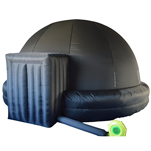 Inflatable Planetarium Dome Tent (Black, 5m/16.4ft) with Air Blower and PVC...