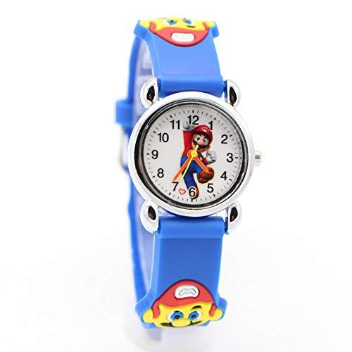 Reloj de dibujos animados para niños nuevo lindo dibujos animados bonito estilo Mario relojes de los niños de las mujeres estudiante niñas niños cuarzo metal acero reloj de pulsera