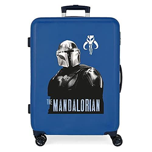 Star Wars The Mandalorian Maleta Mediana Azul 48x68x26 cms Rígida ABS Cierre de combinación...