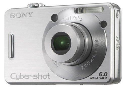 Sony Cyber-Shot DSC-W50 Digitalkamera (6 Megapixel) Silber