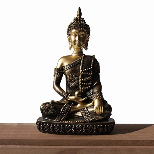 Carefree Fish Buddha Statue Coppery Decoration Bronze Buda Decor Bring Home a Ray of Sunshine 8Inch
