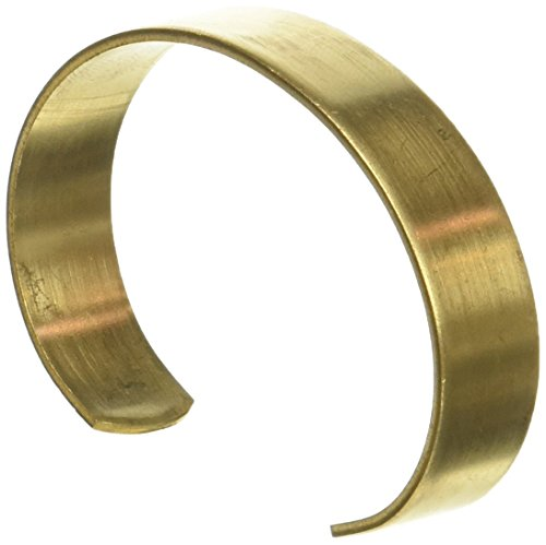 Beadaholique 1 Piece Solid Brass Flat Cuff Bracelet Base, 12.7mm