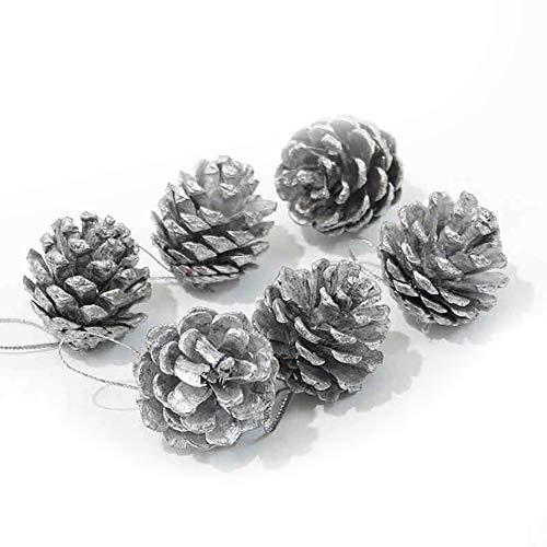 NiceButy 9pcs Christmas Ornaments Christmas Ornaments Christmas Tree Party Jewelry Party (Silver)