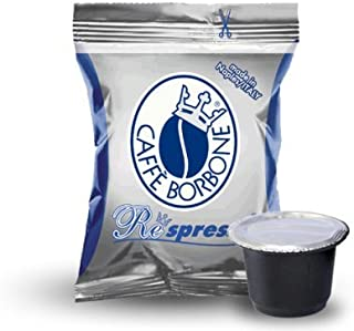 Caffe Borbone 50 Capsule, Caffe' BORBONE miscela Blu - Compatibile Respresso Nespresso