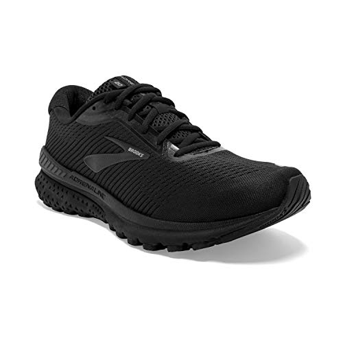 Brooks Mens Adrenaline GTS 20 Running Shoe - Black/Grey - 2E - 8.5