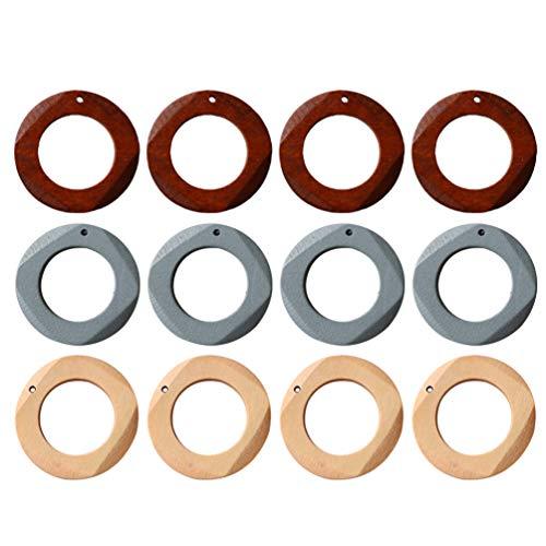 SuPVOX 10 pingentes de brinco de madeira círculo geométrico pingentes de brinco faça-você-mesmo pingentes de brinco para fazer joias acessórios acessórios cinza neblina, multicolored, M, 1