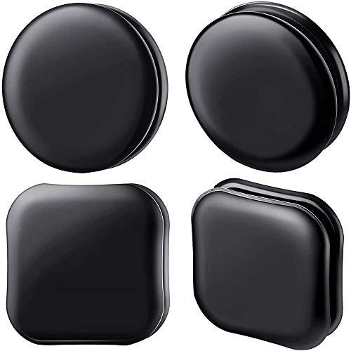 ZGHYBD 12Pieces Clear Magic Nano Rubber Gel Sticky Mat Anti Slip Pad para teléfono Inteligente, Multipurpose Transparente de Doble Cara sin traza extraíble 4pcsSquare Black