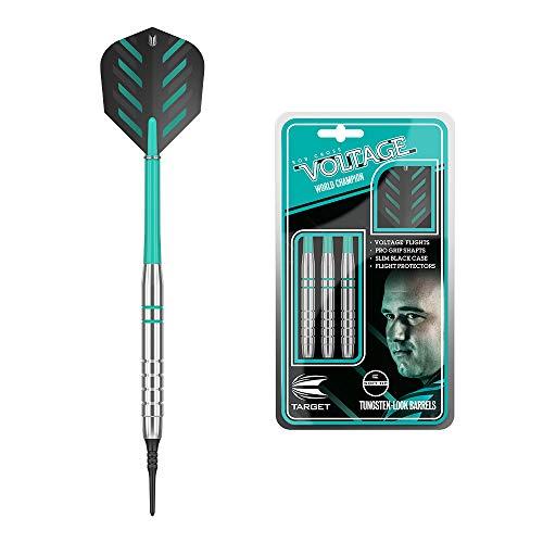 Target Darts Rob Cross Silver Voltage Dart-Set, Messing, weiche Spitze, 18 g