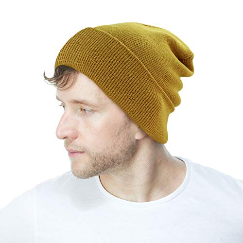 The Hat Depot Made in USA Skull Beanie Plain Ski Hat (Timber)