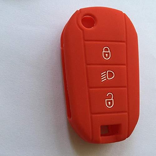 TGBVCar-Styling Flip Plegable Llave de Goma Soporte de Carcasa de Silicona de Coche Funda para Citroen Llaves C2 C3 C4 Picasso Xsara C5 C6 C8 3 Botones