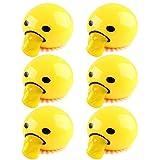 Juguete Bola Estrés, Vinagre de Huevo Blandito Yema de Huevo Anti Alivio del Estrés Regalo Divertido Amarillo Huevo Perezoso Broma Bola de Juguete Huevo Apretar Juguetes Divertidos