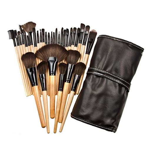 32Pcs / Set Pinceaux Maquillage Pinceau Maquillage Taille Compact Fondation Pinceau Lac Vert