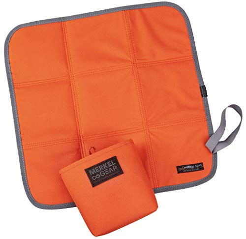 Merkel GEAR Sitzkissen faltbar Orange mit Transporttasche