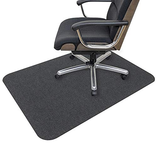 "Office Chair Mat, Opaque Hard Floor Mat for Home, 0.16"" Thick Multi-Purpose Low Pile Desk Chair Mat for Hardwood Floor (35x55 in. / Dark Gray)"