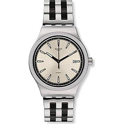 Swatch Herren Analog Automatik Uhr mit Edelstahl Armband YIS424G