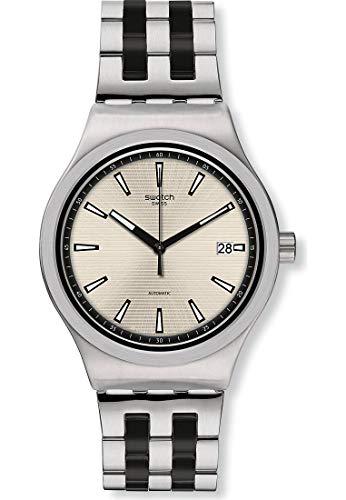 Swatch Reloj Analógico para Hombre de Automático con Correa en Acero Inoxidable YIS424G