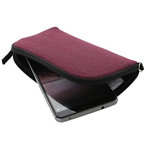 XiRRiX Handyhülle mit Handschlaufe 7.2 - universal Größe 2XL passend für Huawei P10 P20 Lite Honor 9 / Samsung Galaxy A40 S10e - Handytasche Berry