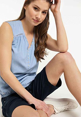 Ragwear Bluse Damen Salty Denim 2011-10015 Hellblau Light Blue 2042, Größe:XL