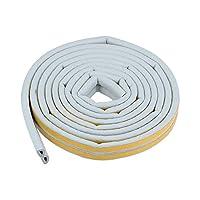 DyniLao フォームテープ接着剤ウェザーストリッピング幅9mm厚さ6mm、長さ2.5メートル灰色、個