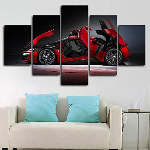 QMCVCDD 5 Panel Wall Art Canvas Cycling Race Mountain Bike Modern Living Room Artwork Home Office Decoration Stretched By Wooden Ready To Hang Hd Print Canvas Prints 5 Pieces Wall Art