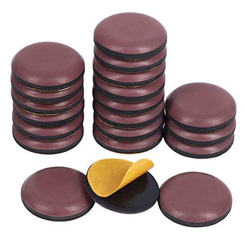 Shintop Furniture Glides, 20 Stück Teflon Möbelgleiter Selbstklebend PTFE Gleiter für Möbel Easy Mover(Braun)