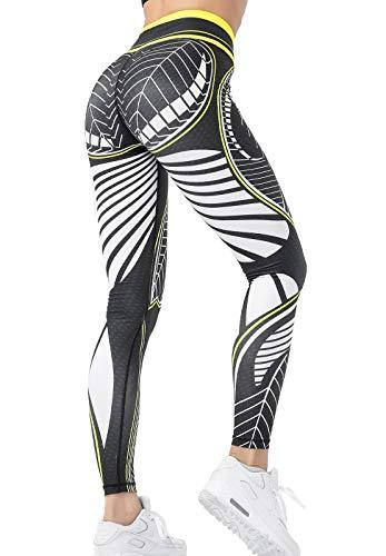 FITTOO Pantalones Deportivos Mujer Yoga Leggings de Alta Cintura Elásticos Transpirables para Running Fitness #7 Blanco Medium